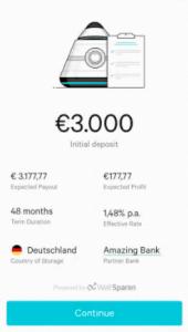N26 Investments über die App