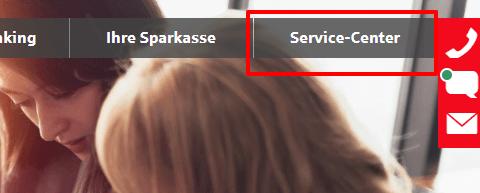 Klicken Sie auf Service Center