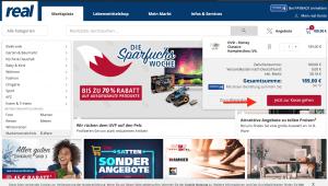 Warenkorb bei REAL.de auswählen