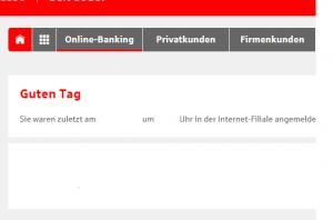 Sparkasse: Limit ändern Schritt 2: Online Banking wählen