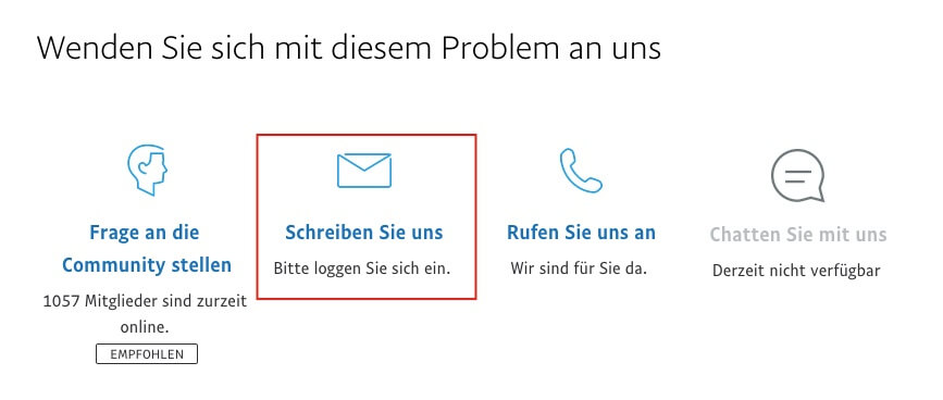 Paypal Anschrift Deutschland