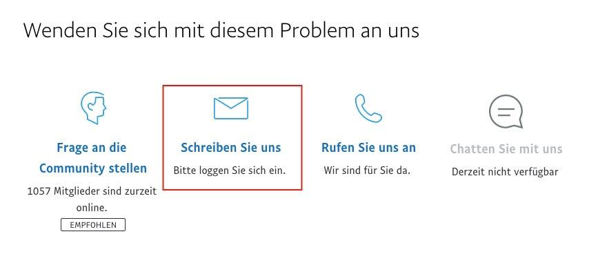 kontakt paypal