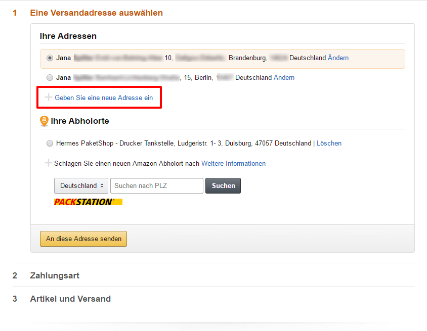 amazon-adresse-aendern