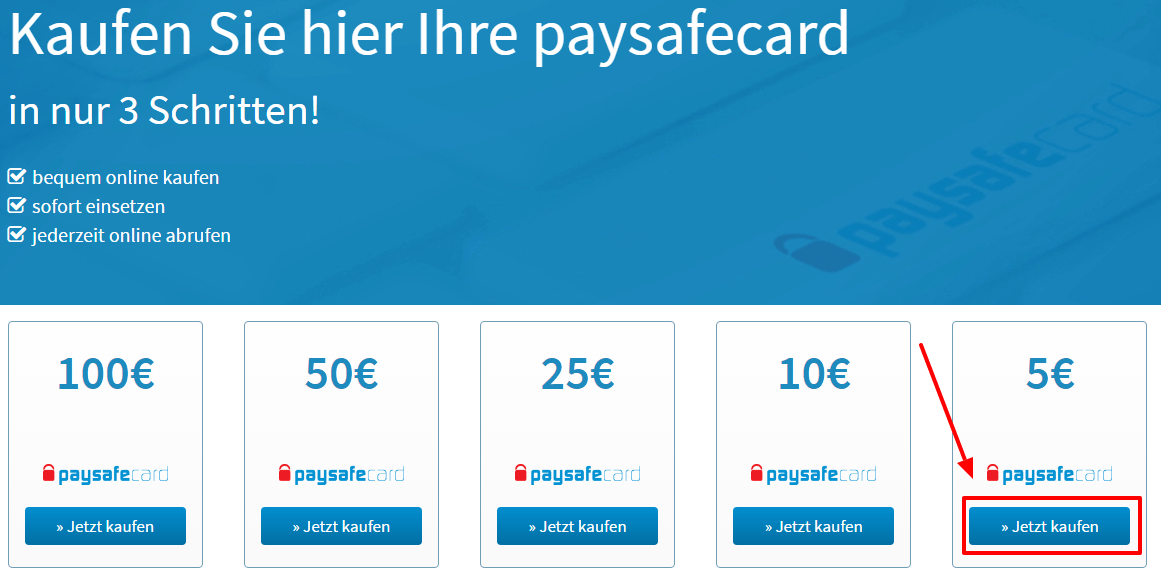 paysafe card werte