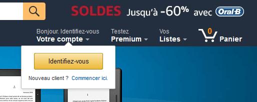Bei Amazon.fr einloggen
