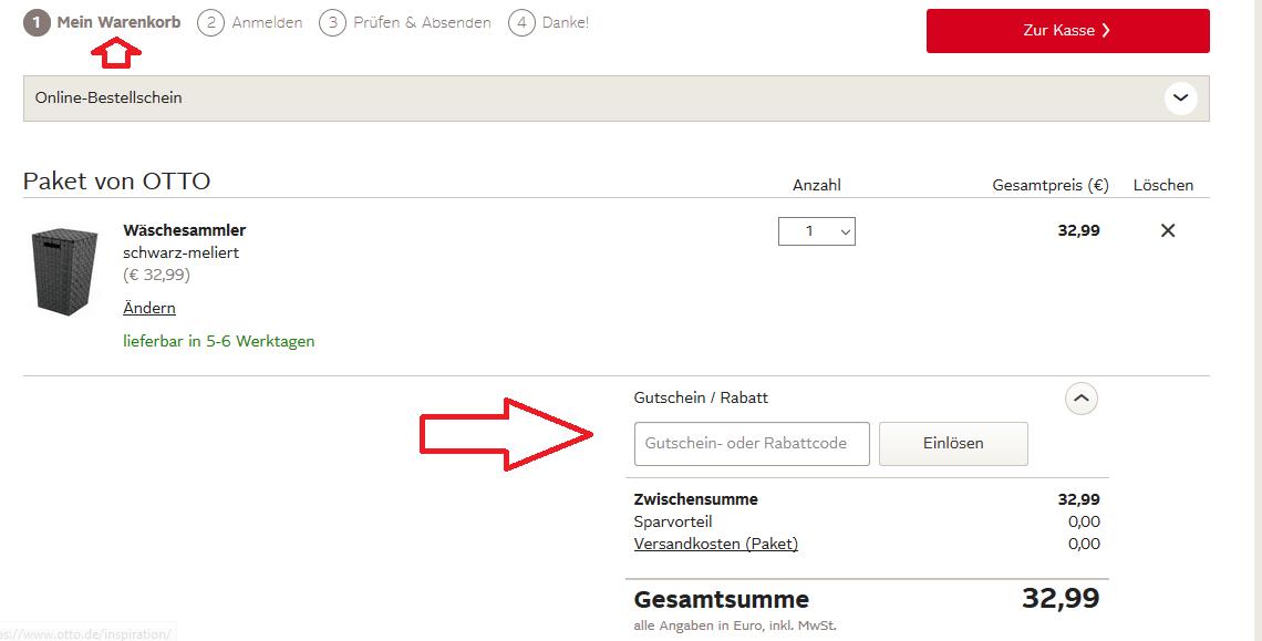 6fdbcf8c83be80 In 3 Schritten Bei Otto Einen Gutschein Einlösen So Gehts