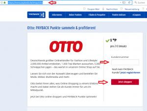 Bei OTTO können Sie über Paypal Punkte sammeln