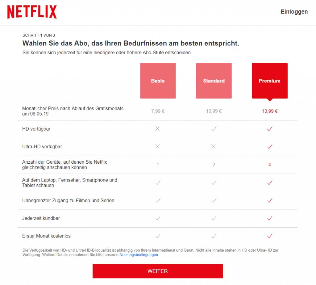 Netflix Anmeldung