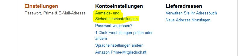amazon-kontoeinstellung