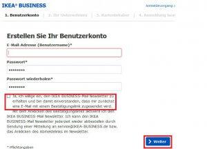 Als Firmenkunde bei IKEA registrieren