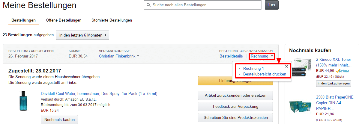 ratgeber die rechnungsadresse bei amazon ndern so geht 39 s. Black Bedroom Furniture Sets. Home Design Ideas
