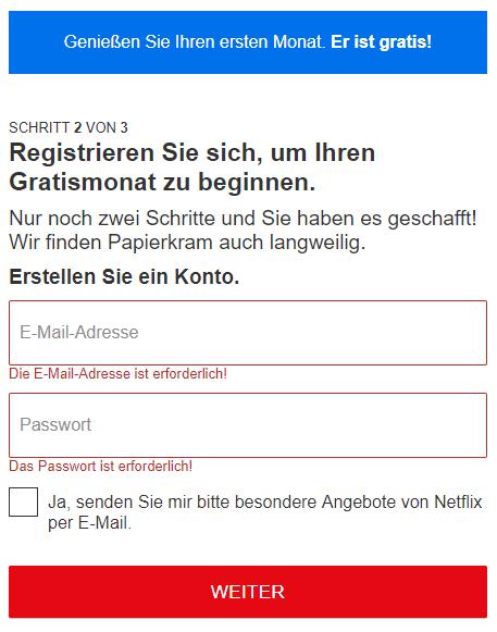 Bei Netflix registrieren
