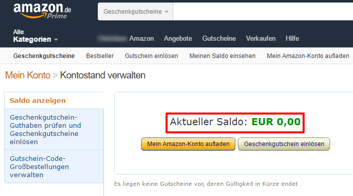 AMAZON COUPON EINLÖSEN