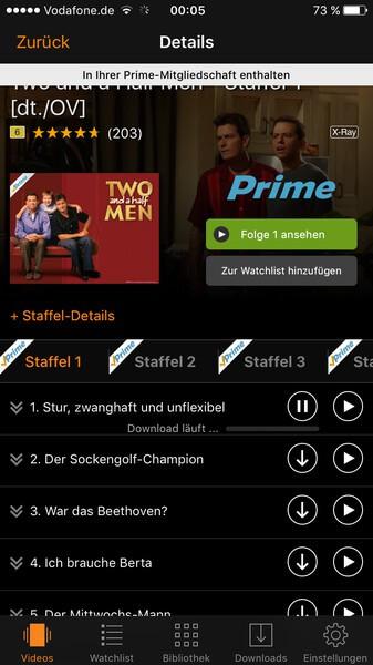 Eine Serienfolge bei Amazon herunterladen