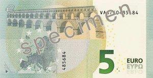 Euroschein digitale Abbildung.