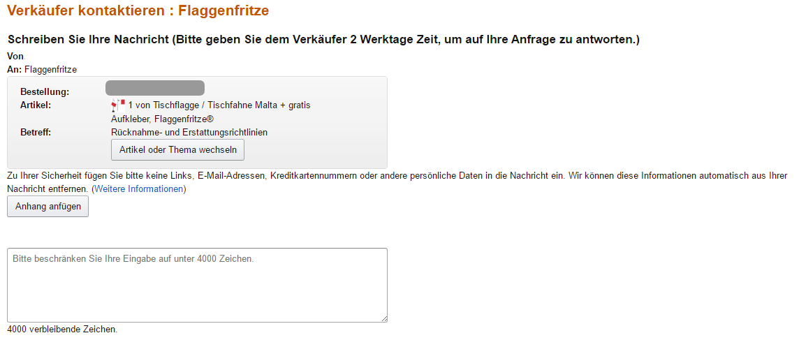 Garantie amazon verkäufer