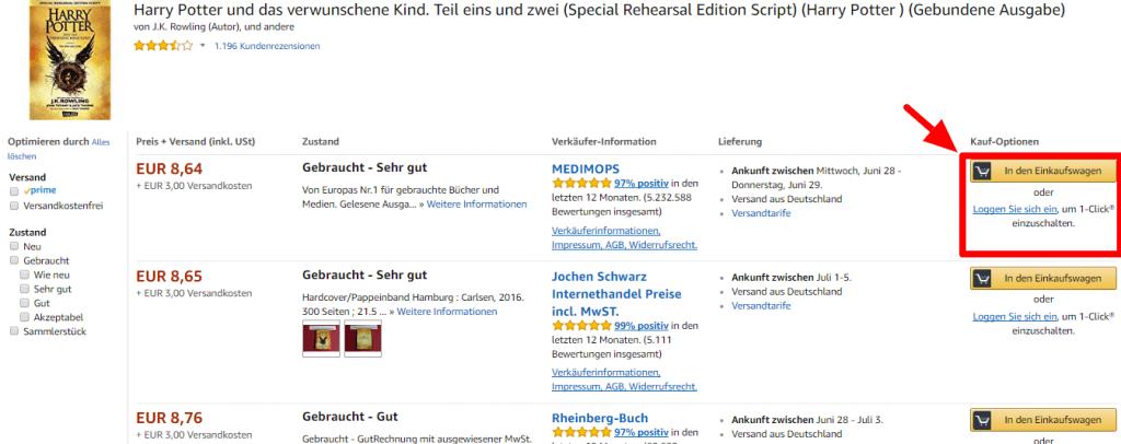 Man kann eine Vielzahl von Artikeln bei Amazon günstiger und gebraucht erwerben