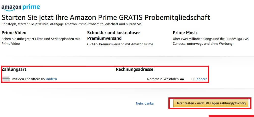 Amazon Prime kann nicht per Paypal bezahlt werden