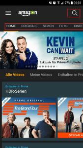 Amazon Prime bietet Videos in HD Qualität an
