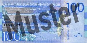Schweden-SEK-100-Kronen-Hinten