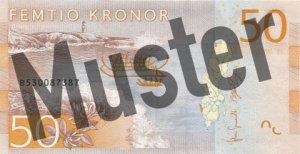 Schweden-SEK-50-Kronen-Hinten