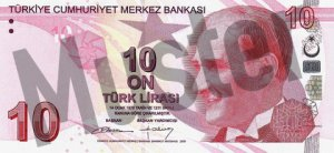 Tuerkei-TRY-10-Lira-Vorne