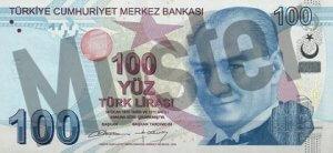 Tuerkei-TRY-100-Lira-Vorne