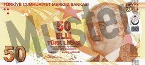 Tuerkei-TRY-50-Lira-Vorne