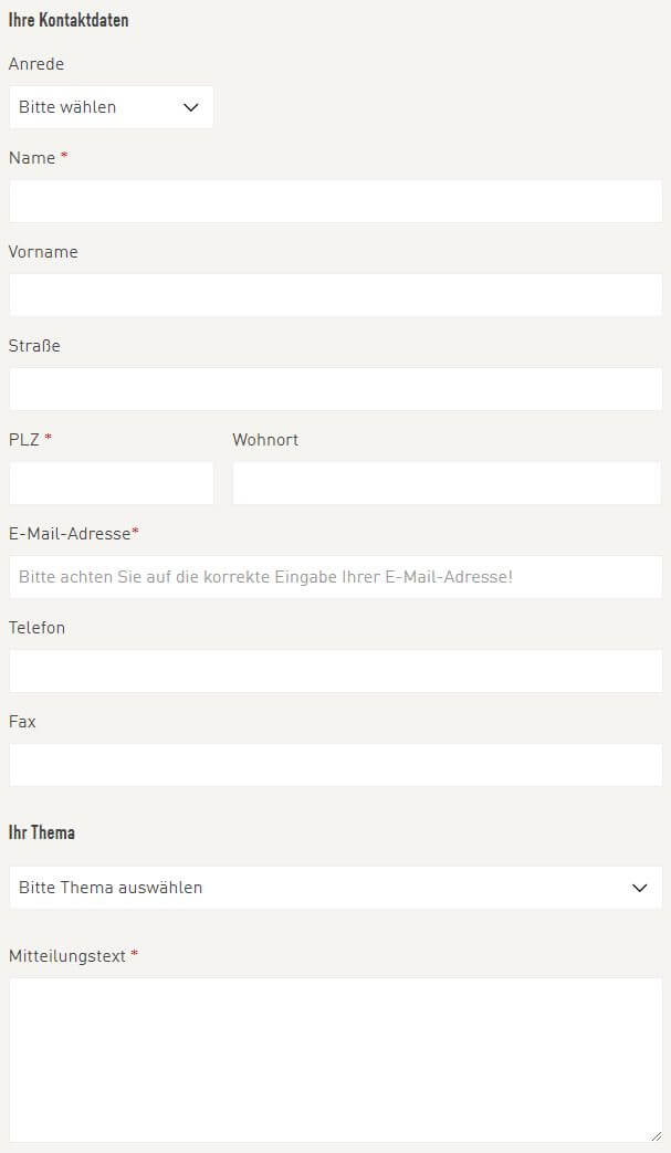 kontaktformular fr kunden von aldi nord - Aldi Sud Online Bewerbung