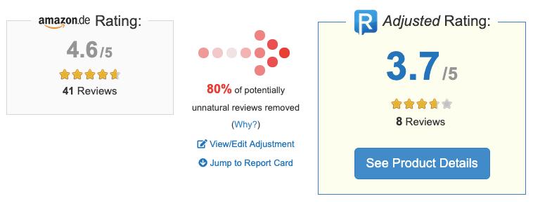 Amazon Bewertung mit Tool überprüfen