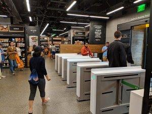 Kassenbereich bei Amazon Go