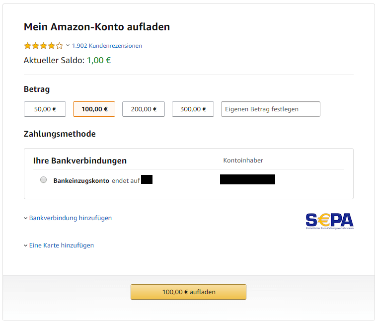 Amazon Pay Guthaben