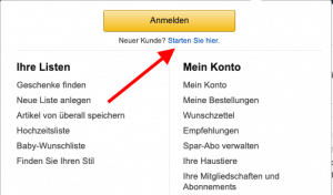 Konto erstellen bei Amazon Smile