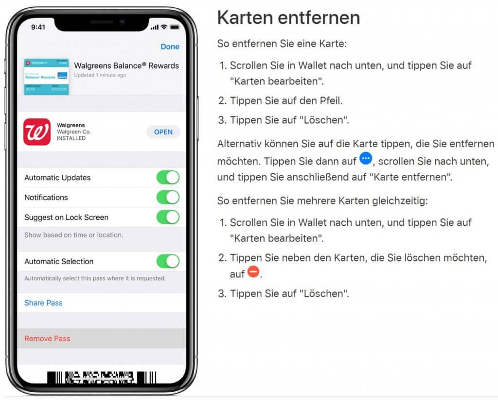 Apple Pay: Kreditkarte und andere Zahlungsmittel entfernen!
