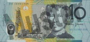 10 australische Dollar (Rückseite)