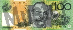 100 australische Dollar (Rückseite)