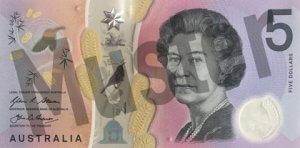 5 australische Dollar (Vorderseite)