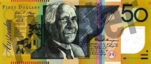 50 australische Dollar (Vorderseite)
