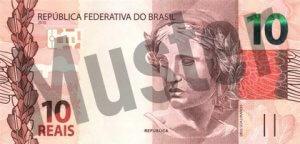 10 brasilianischer Real (Vorderseite)