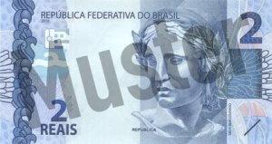 2 brasilianischer Real (Vorderseite)