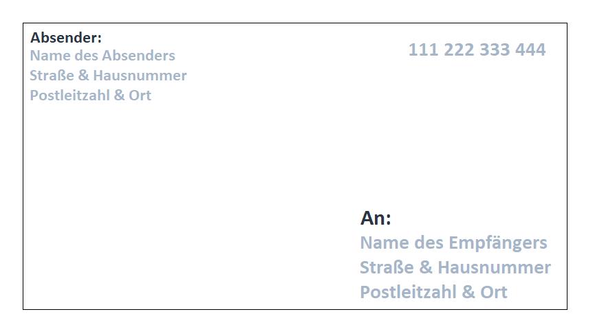 Briefrücken mit Handyporto