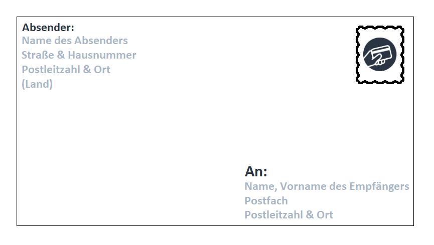 Brief an ein Postfach adressieren