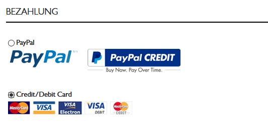 Wir empfehlen mit PayPal zu bezahlen