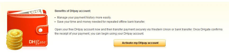 Das DHpay Konto über DHgate eröffnen