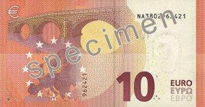 Rückseite des 10-Euro-Scheins - Quelle: EZB