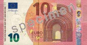 Vorderseite des 10-Euro-Scheins - Quelle: EZB