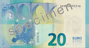 Rückseite des 20-Euro-Scheins - Quelle: EZB