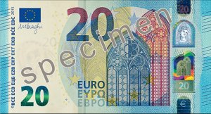 Vorderseite des 20-Euro-Scheins - Quelle: EZB