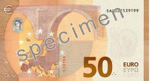 Rückseite des 50-Euro-Scheins - Quelle: EZB