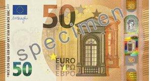 Vorderseite des 50-Euro-Scheins - Quelle: EZB